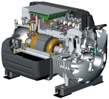 variable speed industrial chiller compressor