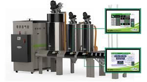树脂干燥:中央系统提供个性化的料斗监控,趋势和控制