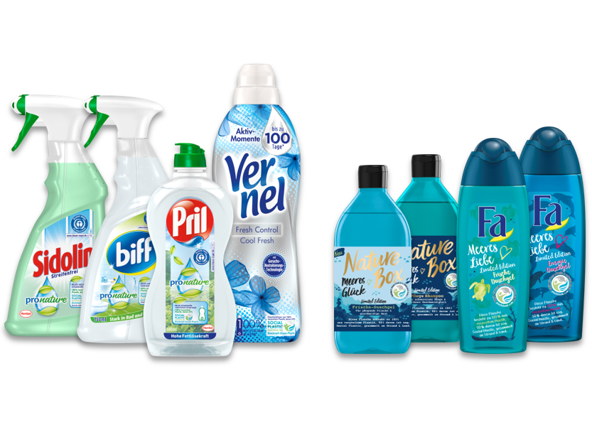 Henkel recycled plastic packaging