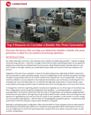 5 reasons for beside-the-press granulators