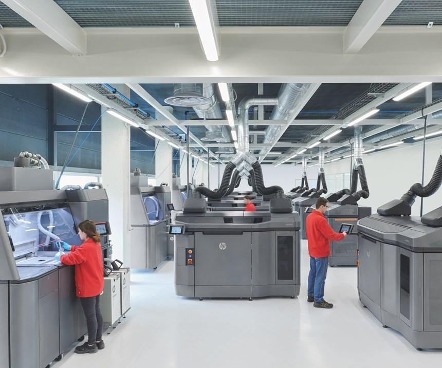 HP Jet Fusion 4210 3D-printed fleet