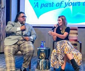 Plastic Patrol founder Lizzie Carr (right) with Anantshree Chaturvedi, FlexFilms International vice chairman & CEO.
