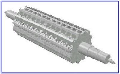 Cumberland 12-knife granulator rotor design