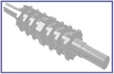 Cumberland 5-knife granulator rotor design