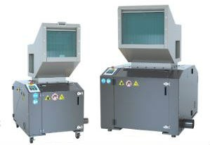 Two high quality cumberland beside the press plastics granulators