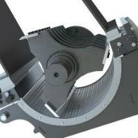 Offset chamber design helps digest low volume high density parts