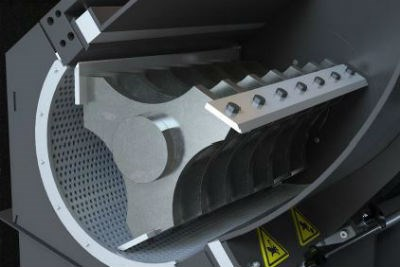 Cumberland open three bladed granulator rotor design