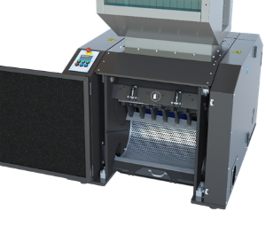 Open Cumberland Granulator shows screen access and ease of accesibility