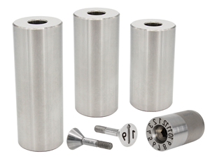 Progressive Components tapered series date plugs stainless steel support pillars