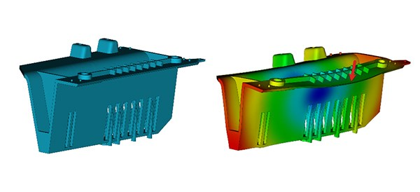 Injection molding warpage: before and after