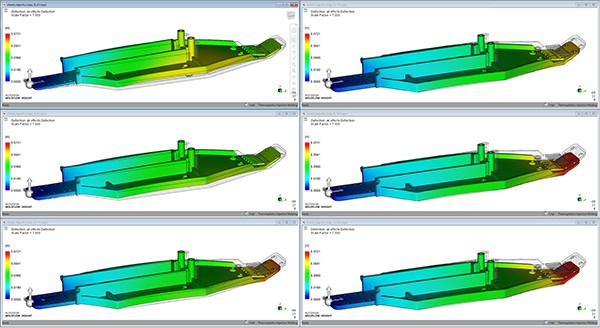 Warpage simulation with Autodesk Moldflow