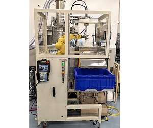 CS Robotics' O-Cut gate-cutting cell is mobile between presses