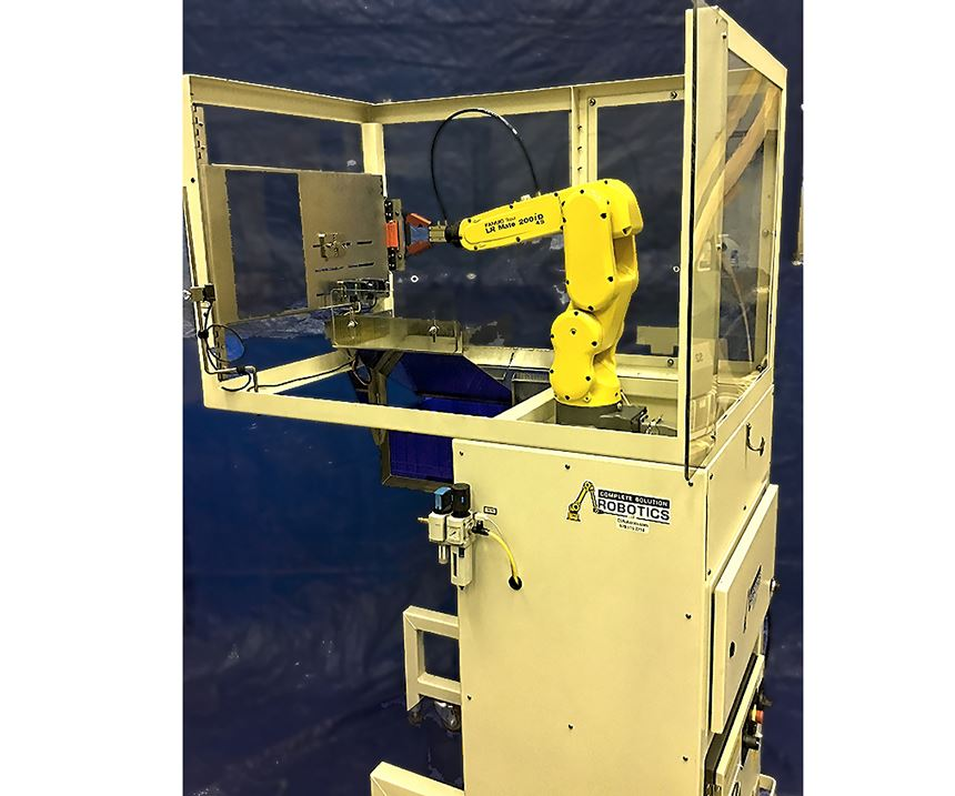 CS Robotics cell is based on a small Fanuc six-axis robot
