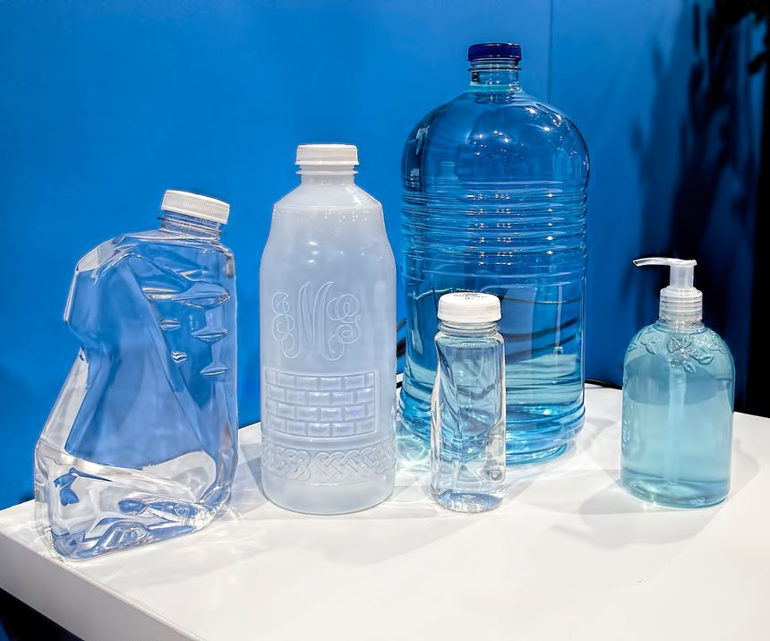 The Liquiform process has been tested with a wide range of bottle shapes and sizes, in PET, HDPE and PP.