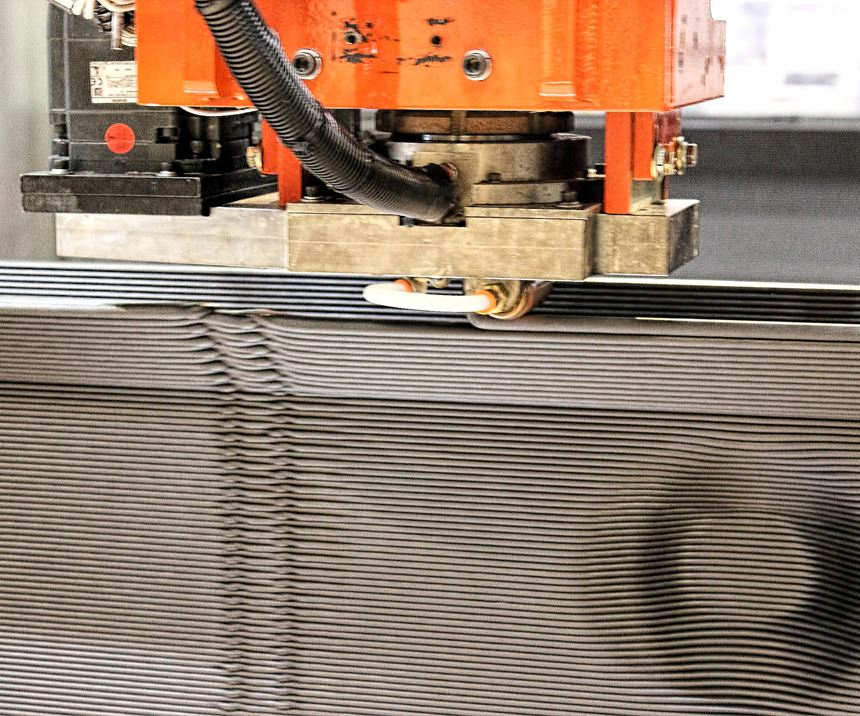 ThermwoodLSAM printer builds Olli parts up to 40 ft long from carbon-fiber reinforced thermoplastics.