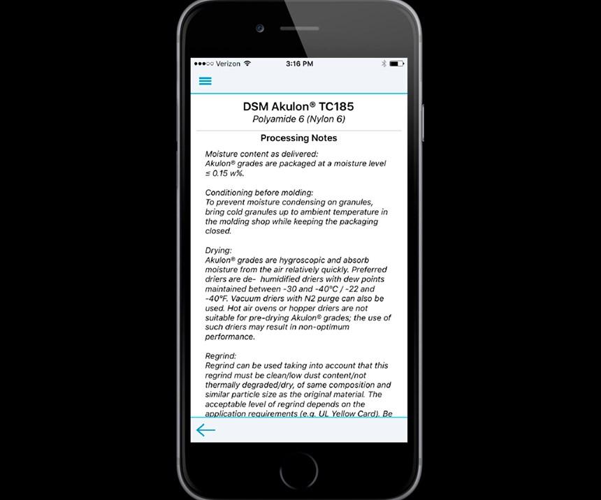 Screen shot of MobileSpecs