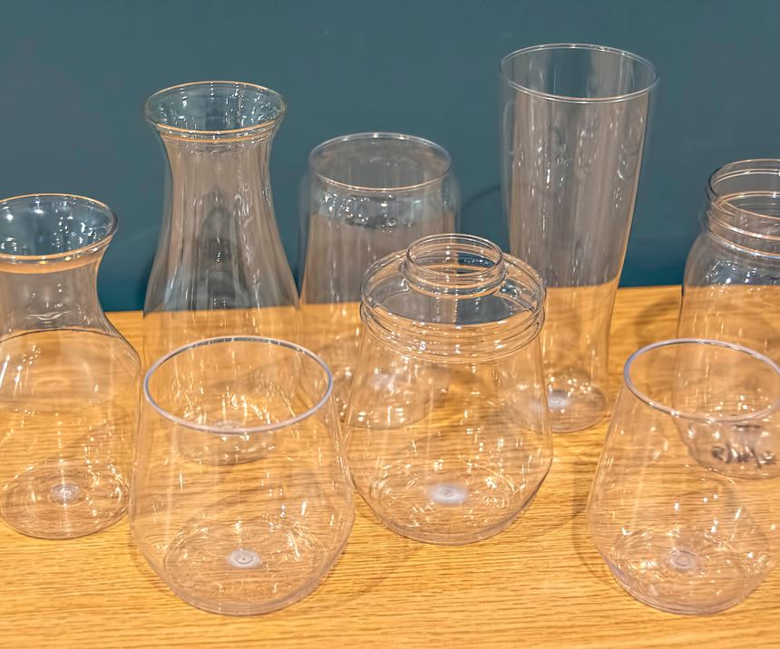 MSA explores unusual applications for ISBM PET, too, such as this line of bar ware.