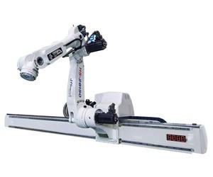 HYRoboticsH5 five-axis servo beam robot for injection molding.