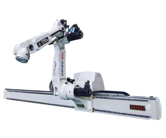 HYRobotics H5 five-axis servo beam robot for injection molding.