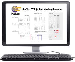 Paulson's SimTechonline tool simulates an injection machine's control panel as well as the results of your machine setup for a given part.