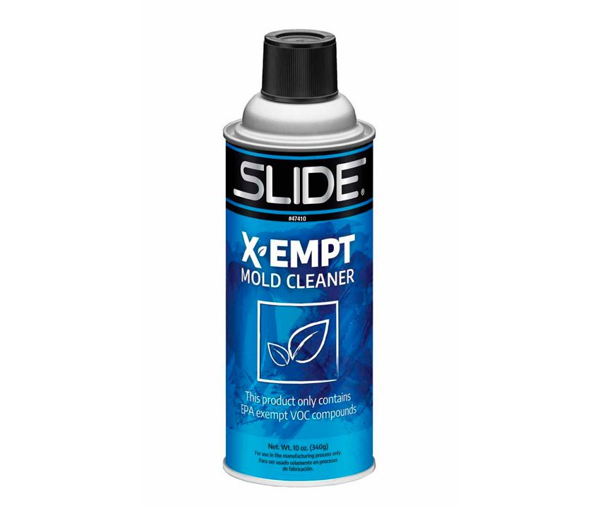 Slide Products mold cleaner requires no cleanup.