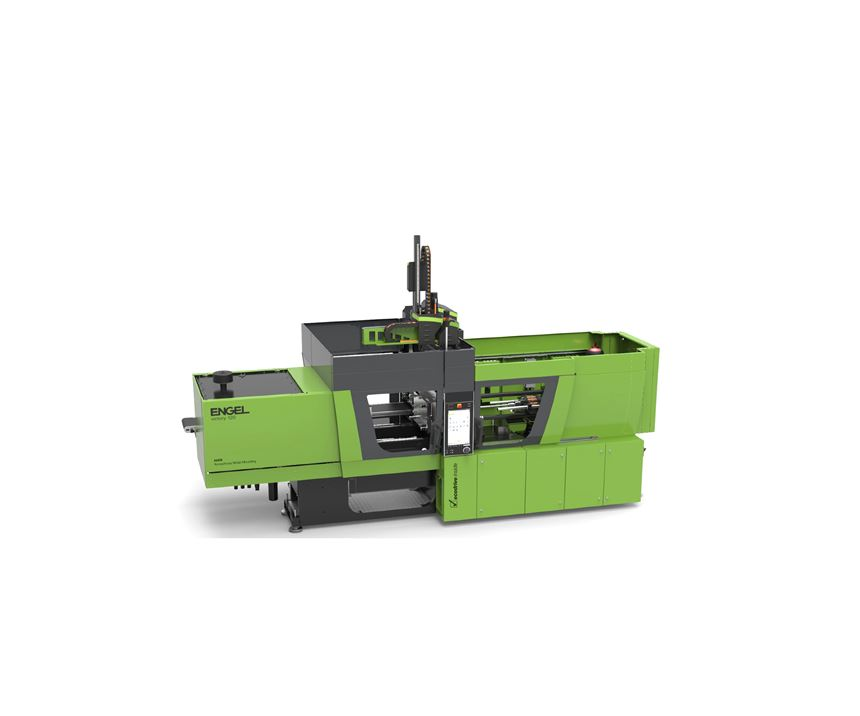 Engel victory AMM tiebarless machine tailored for amorphous metal injection molding.