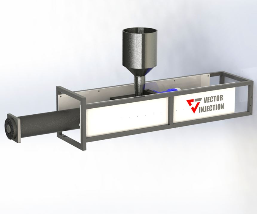 For extra-large shot sizes, the Intruder is a mold-mounted, servo-driven extruder for intrusion molding.