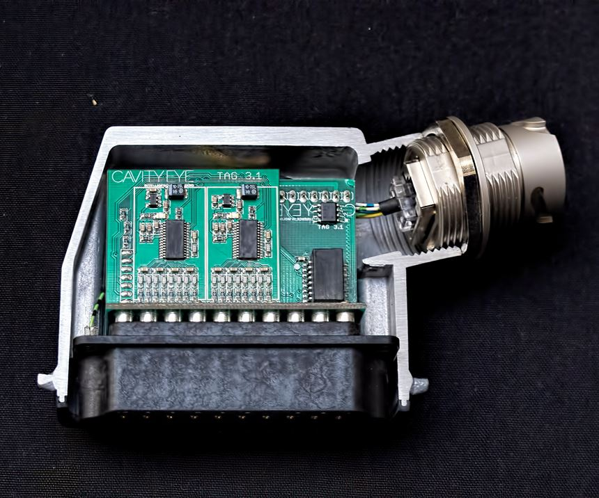 Smart Measuring plug with microcontroller inside.