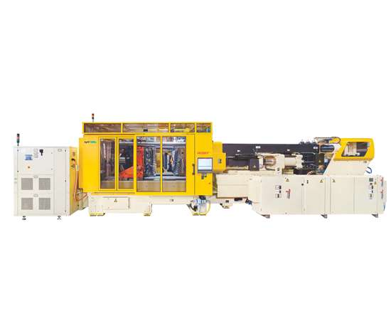 Husky HyPET HPP5e PET preform injection molding system.