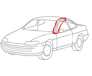 This automotive A-pillar is molded of a PC/ABS or PC/ASA alloys, so its viscosity is relatively high to start with