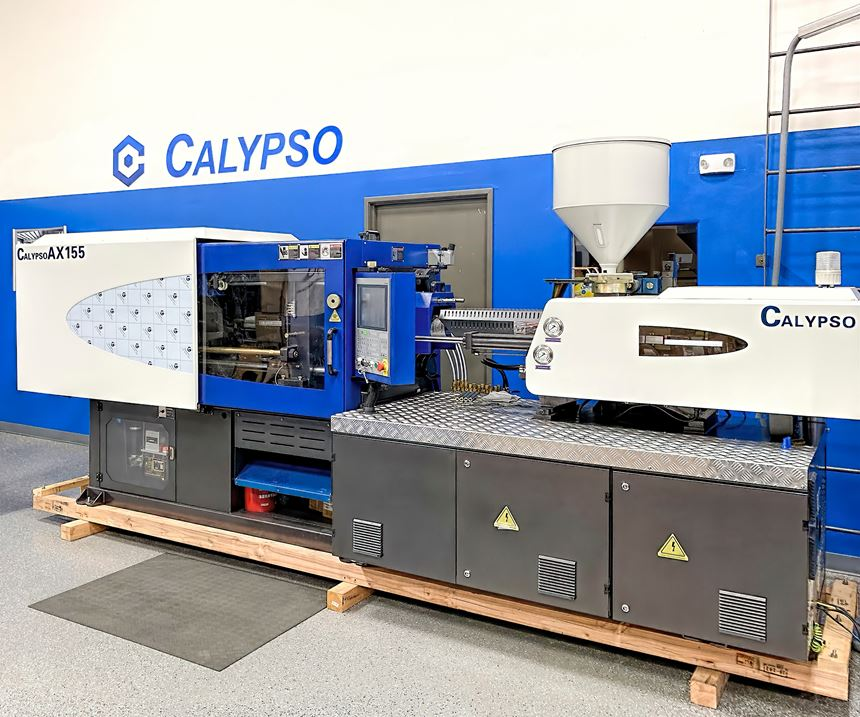 AX 155-ton press is available for trials in Calypso's demo lab.