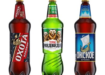 Heineken Russia blow molds PET bottles for three brands in two different designs using the same basic mold from PET engineering.