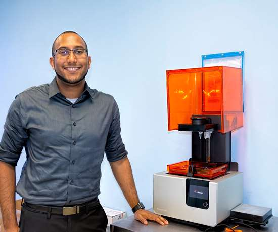 Natech acquired an SLA-type Formlabs 3D printer in 2017.