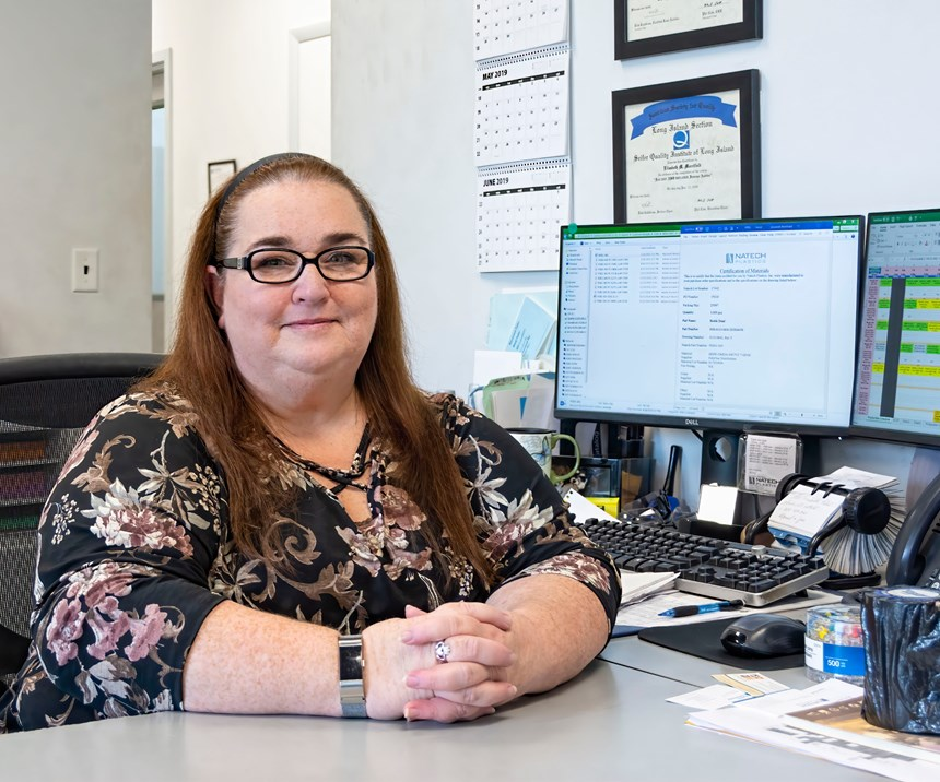Operations manager Elizabeth Merrifield is looking forward to installation of an MES/MRP system from IQMS to improve scheduling, production control and inventory management.