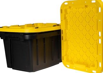 Aaron Industries black yellow tote