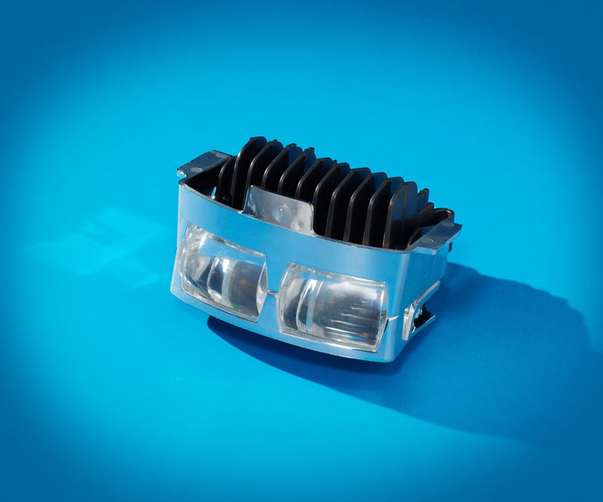 Celanese's CoolPoly TCP thermally conductive nylon 6 compound is used in Ford headlamp heat sinks.