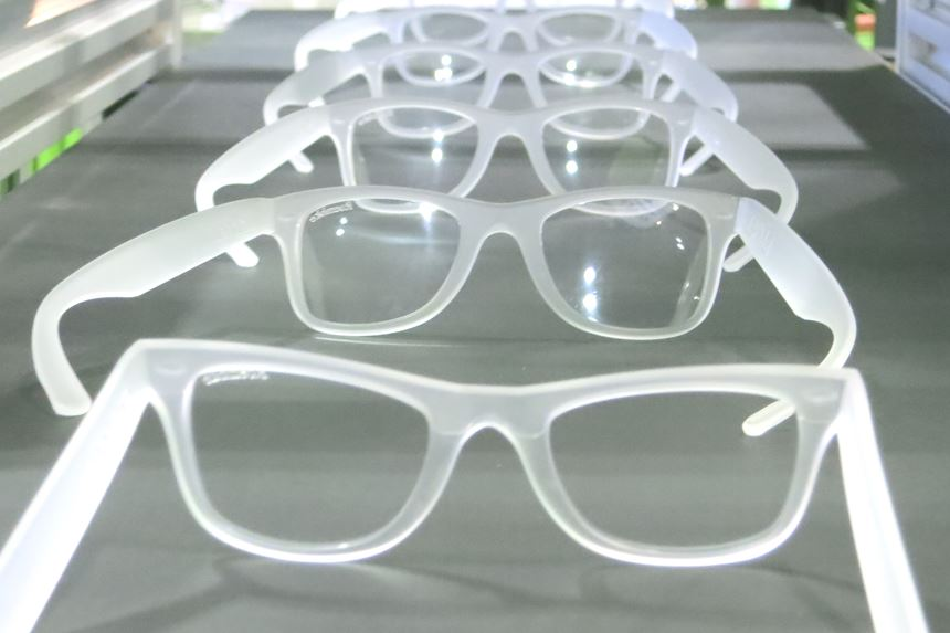 Eyeglasses injection molded of Shin-Etsu's new high-clarity LSR.