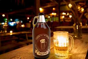 """Believed to be the first 64-oz barrier PET """"growler"""" for craft beer."""