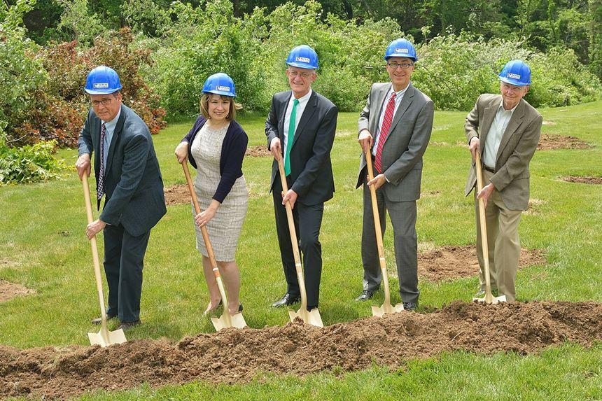Breaking ground in June. Arburg, Inc. CEO Friedrich Kanz, center.