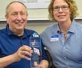 Rod Roth receiving an award from Western Washington University's Plastics & Composites Engineering Program