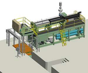 Layout of new vertical 500-ton SF press with 125-lb capacity.