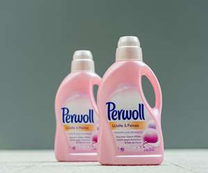 Perwoll bottles from chemically recycled plastic