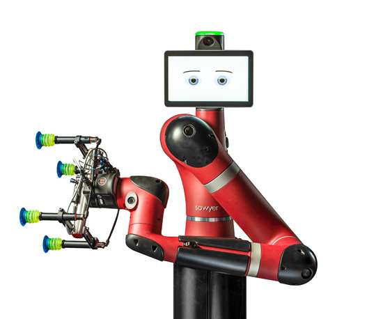 Sawyer robot, acquired from Rethink by Hahn Automation.