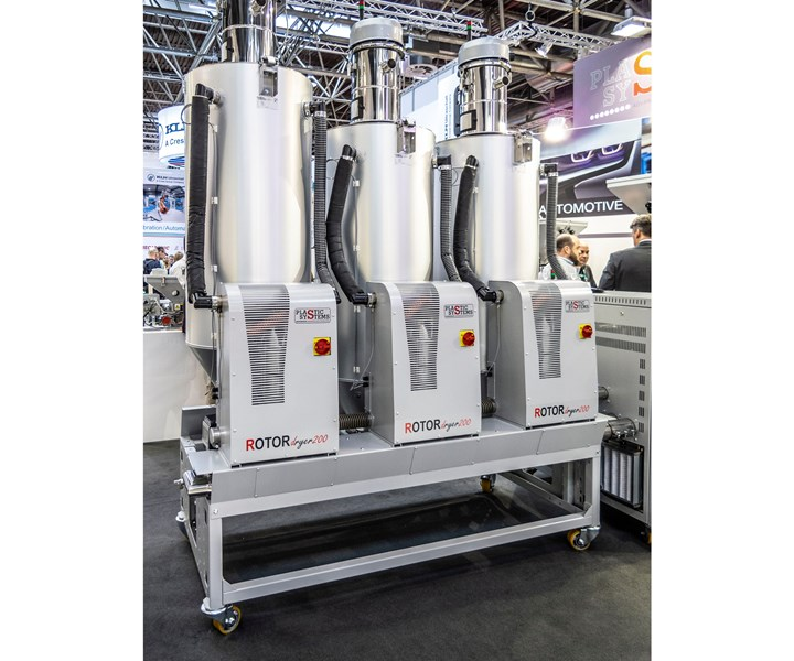 Plastic Systems introduced a mobile multi-dryer system with a single controller at K 2019.