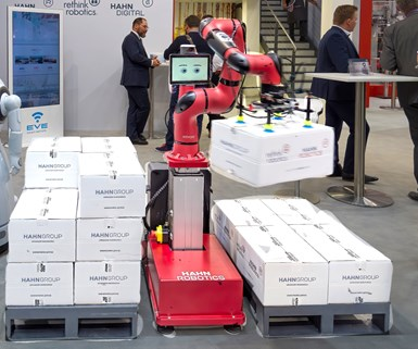 Hahn's new Sawyer Black cobot from Rethink Robotics GmbH.
