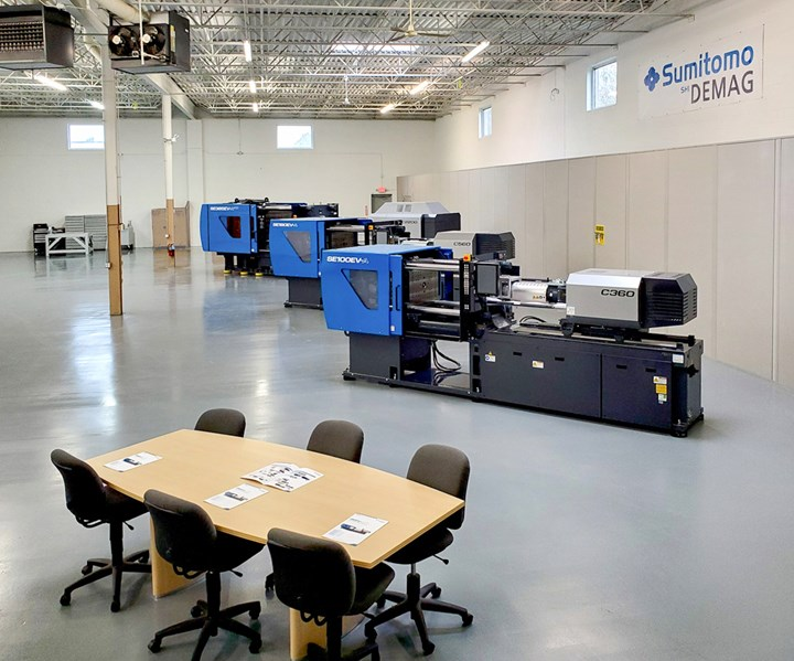 New Sumitomo Demag Tech Center in Buffalo Grove, Ill., has three all-electric injection presses.
