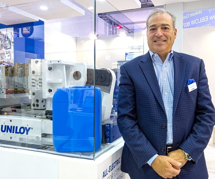 Brian Marston, CEO of Uniloy, says the company is unique in offering four blow molding technologies.