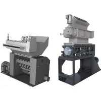 Two Cumberland thermoforming granulator configurations