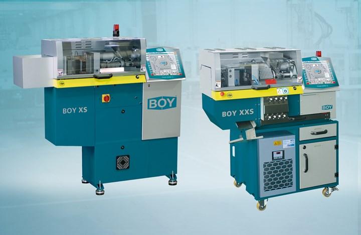 Boy Machines XS and XXS injection molding machines