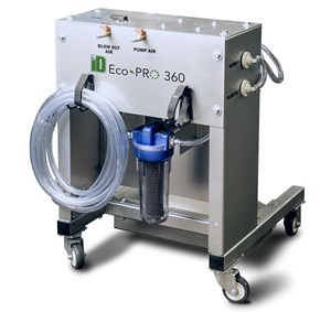 Tooling: Larger Model Integrated Pump/Filter System for Cleaning Internal Cooling Passages